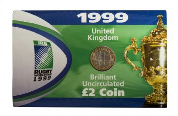 1999 £2 Rugby World Cup Brilliant Uncirculated Pack